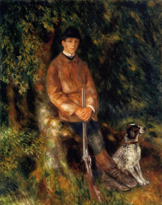 Alfred Berard and His Dog - 1881. Пьер Огюст Ренуар