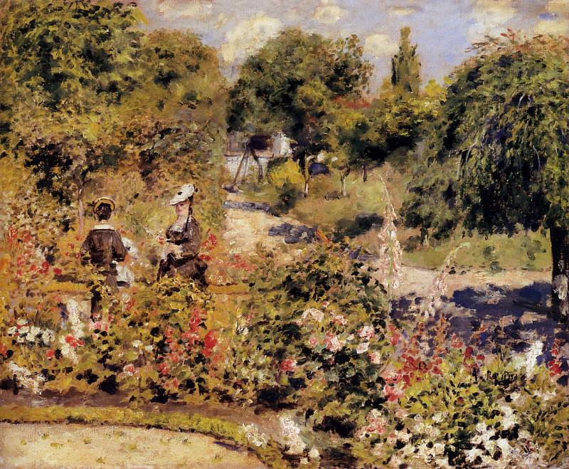 The Garden at Fontenay - 1874. Pierre-Auguste Renoir