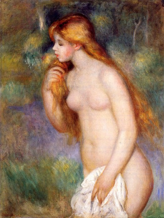 Standing Bather - 1896. Pierre-Auguste Renoir