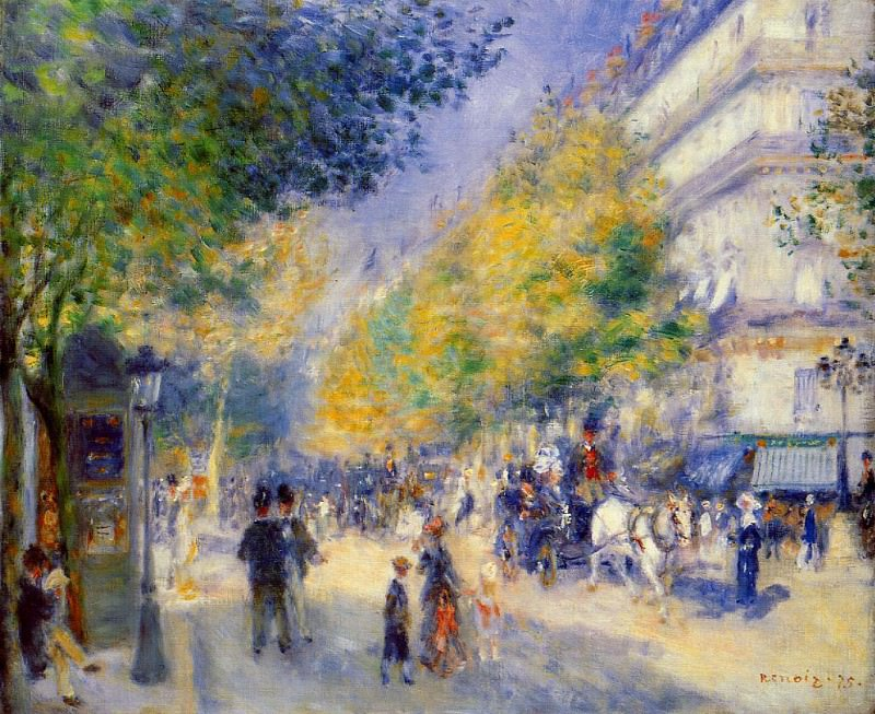 The Great Boulevards - 1875. Pierre-Auguste Renoir