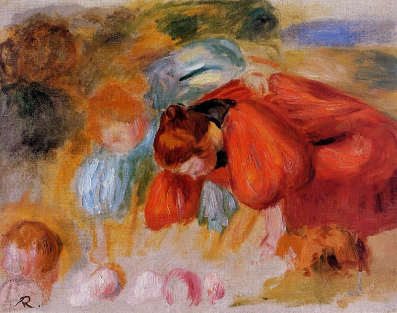 Study for The Croquet Game - 1892. Pierre-Auguste Renoir