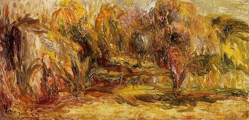 Cagnes Landscape - 1911. Пьер Огюст Ренуар
