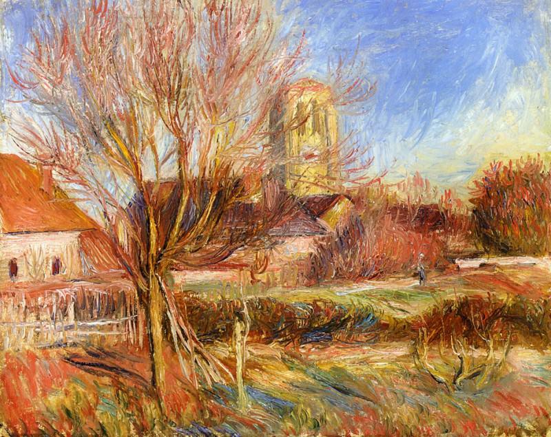 The Church at Essoyes. Pierre-Auguste Renoir