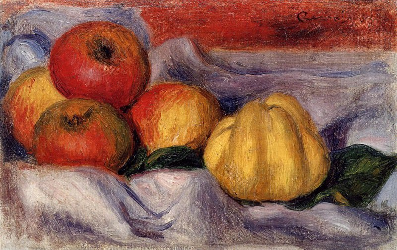 Still Life with Apples. Пьер Огюст Ренуар