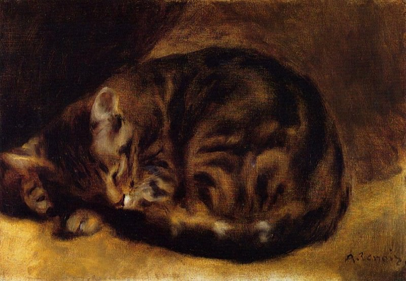 Sleeping Cat - 1862. Пьер Огюст Ренуар