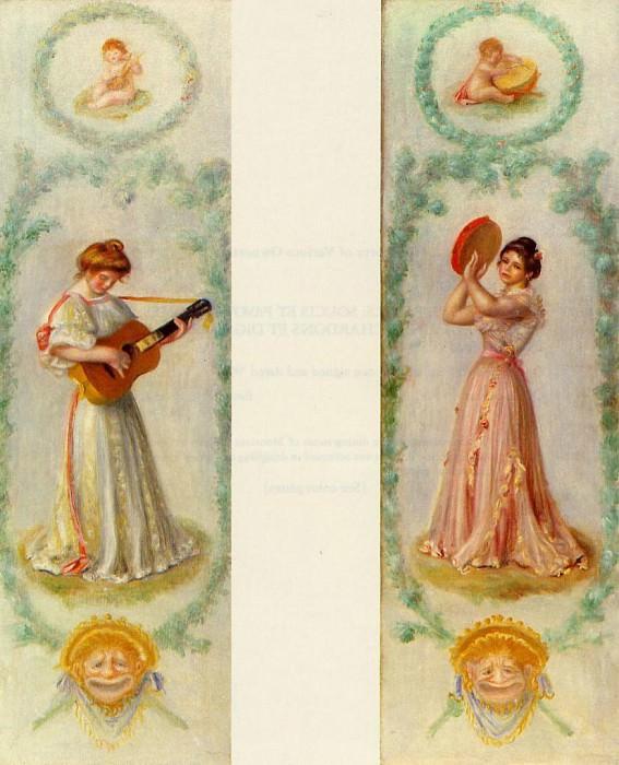 La Musique (two paintings) - 1895. Pierre-Auguste Renoir