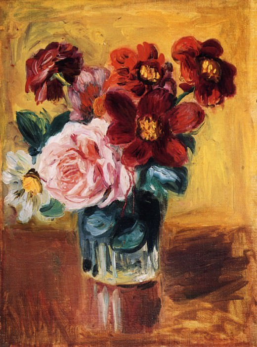 Flowers in a Vase. Пьер Огюст Ренуар