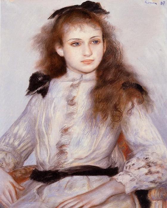 Portrait of Madeleine Adam - 1887. Pierre-Auguste Renoir