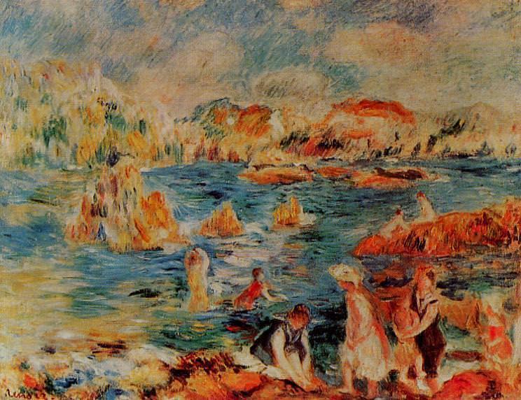 The Beach at Guernsey - 1882- 1883. Pierre-Auguste Renoir