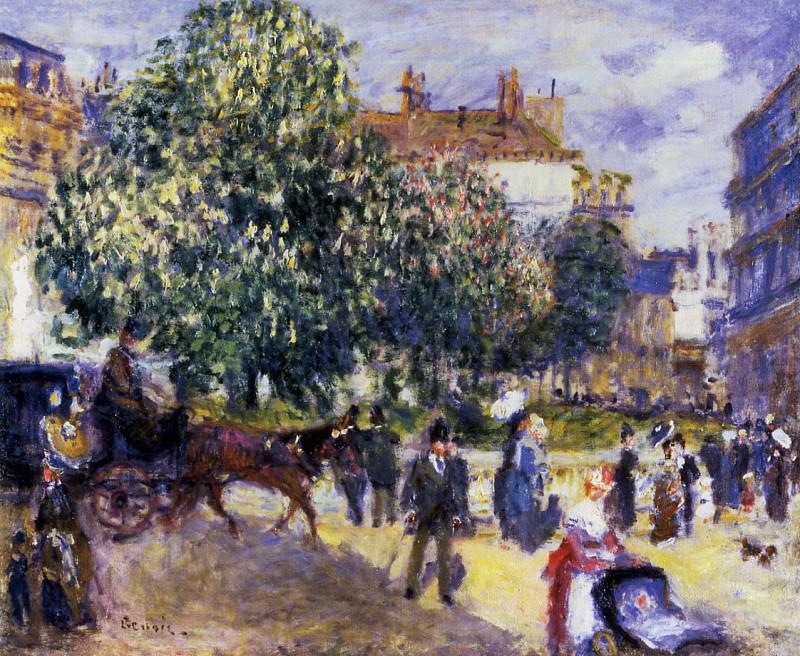 Place de la Trinite, Paris - 1875. Pierre-Auguste Renoir