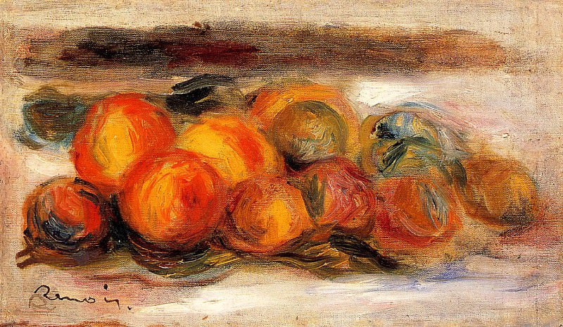 Still Life with Peaches. Pierre-Auguste Renoir