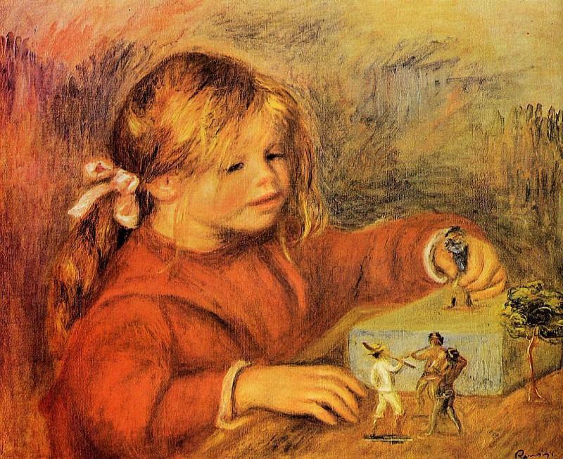 Claude Renoir Playing - 1906. Pierre-Auguste Renoir