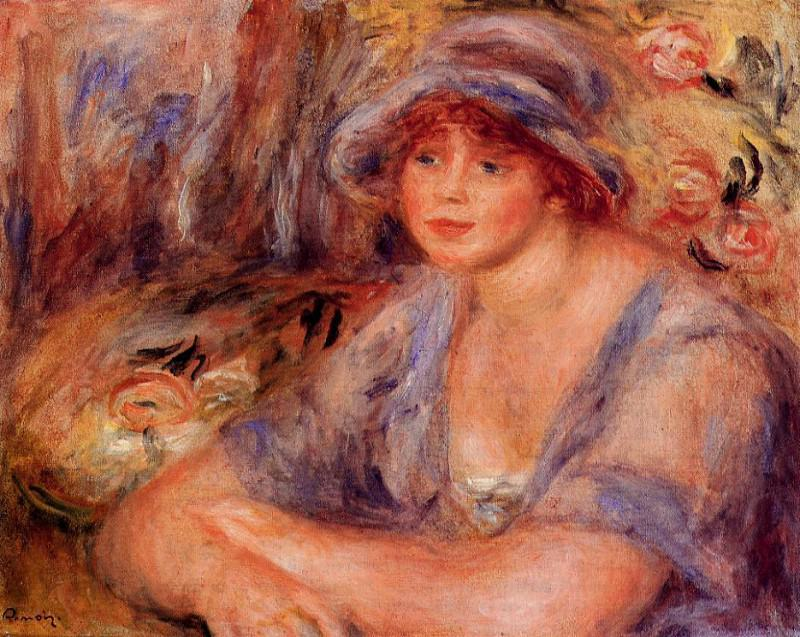 Andree in Blue (also known as Andree Heurschling) - 1917. Pierre-Auguste Renoir