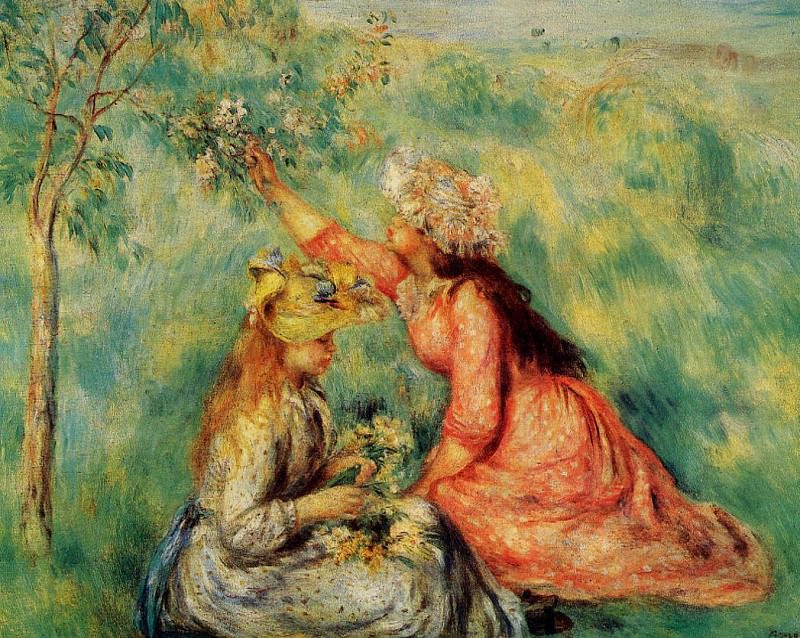 In the Fields - 1890. Pierre-Auguste Renoir
