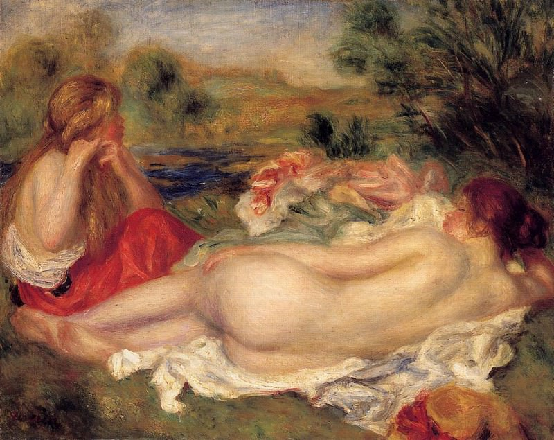 Two Bathers - 1896. Pierre-Auguste Renoir