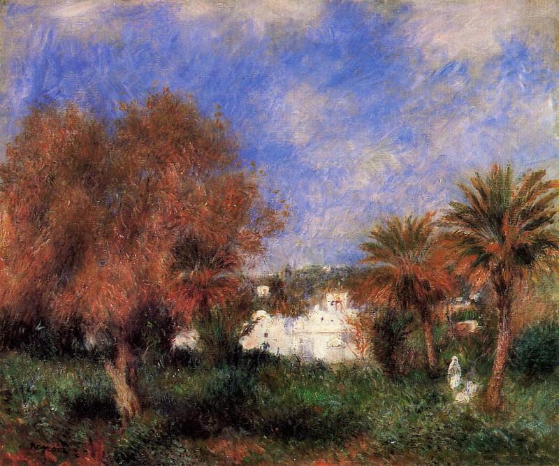The Garden of Essai in Algiers - 1881. Пьер Огюст Ренуар