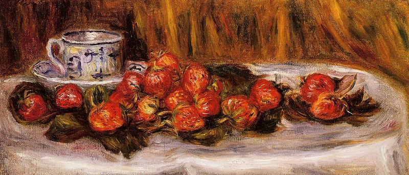 Still Life with Strawberries - 1905. Пьер Огюст Ренуар