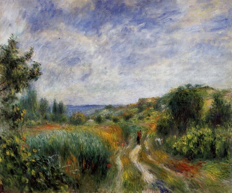 Landscape near Essoyes - 1892. Пьер Огюст Ренуар