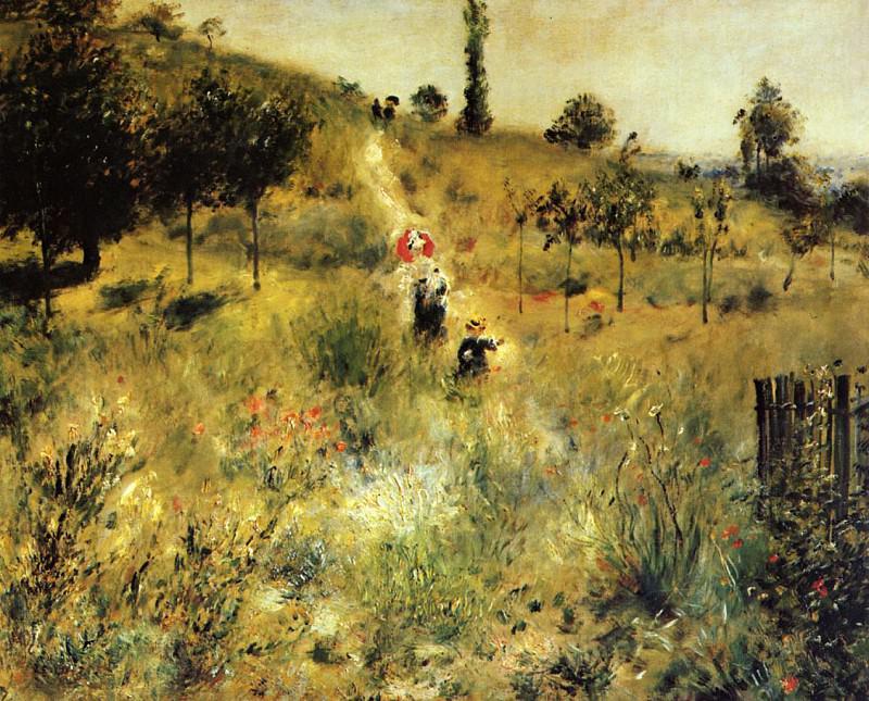 Path Winding through the High Grass - 1875. Pierre-Auguste Renoir