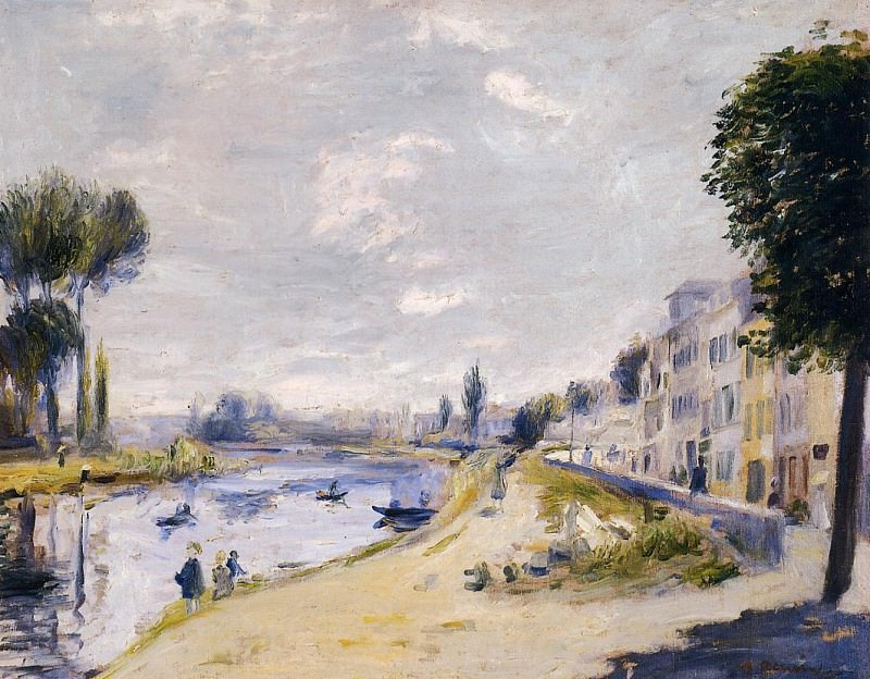 The Banks of the Seine, Bougival - 1875. Pierre-Auguste Renoir