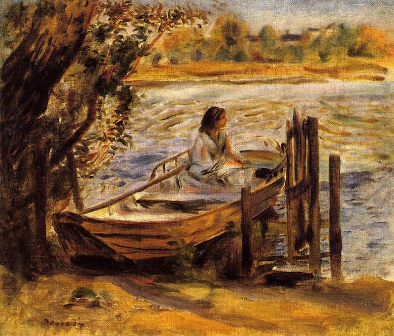 Young Woman in a Boat (also known as Lise Trehot) - 1870. Пьер Огюст Ренуар
