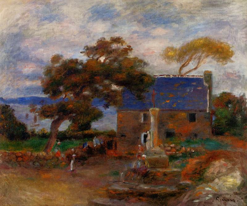 Treboul, near Douardenez, Brittany - 1895. Pierre-Auguste Renoir