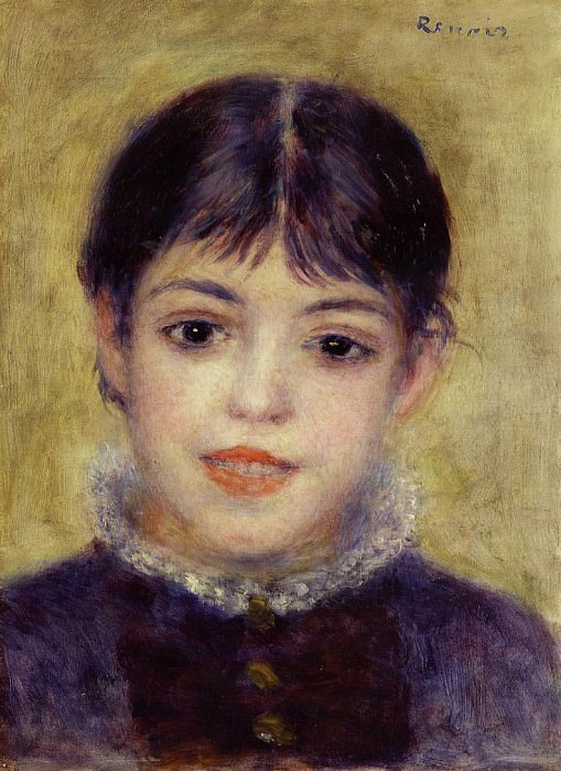 Smiling Young Girl - 1878. Pierre-Auguste Renoir