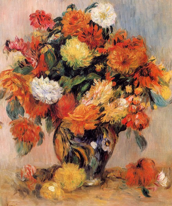 Vase of Flowers - 1884. Pierre-Auguste Renoir