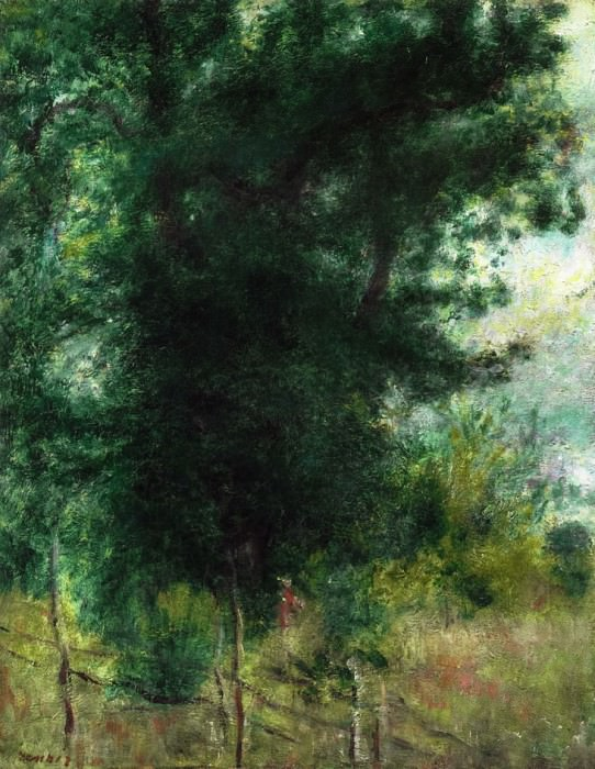 A Fence in the Forest Забор в лесу 1878. Pierre-Auguste Renoir