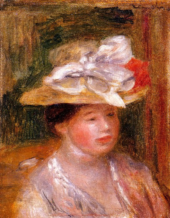 Head of a Woman - 1913. Pierre-Auguste Renoir