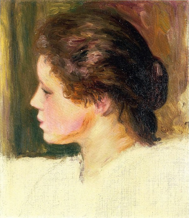 Womans Head - 1887. Пьер Огюст Ренуар