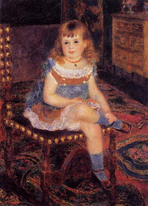 Georgette Charpentier Seated - 1876. Pierre-Auguste Renoir