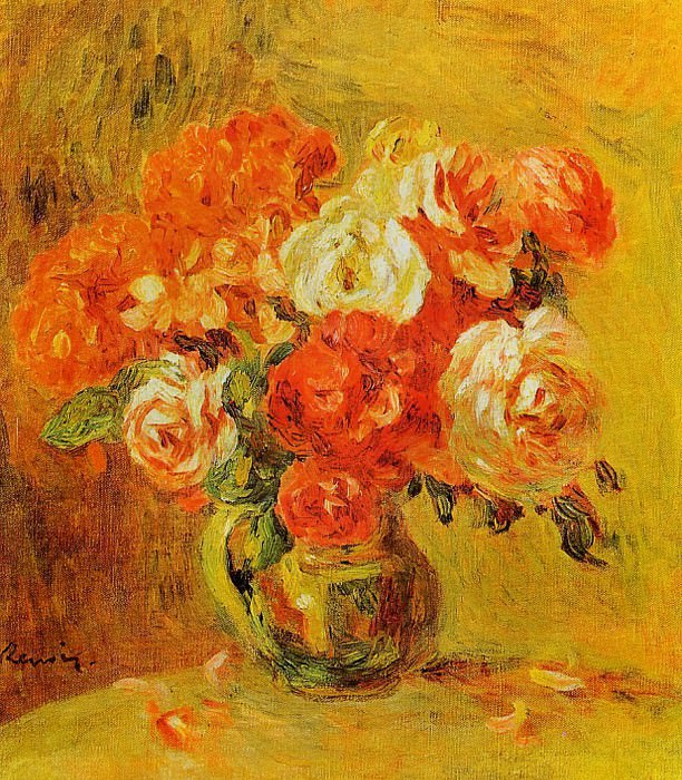Flowers in a Vase1. Пьер Огюст Ренуар