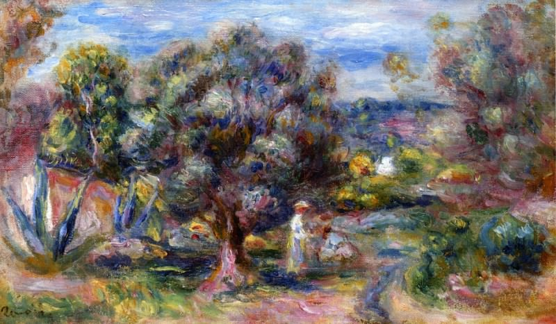 Aloe, Picking at Cagnes. Pierre-Auguste Renoir