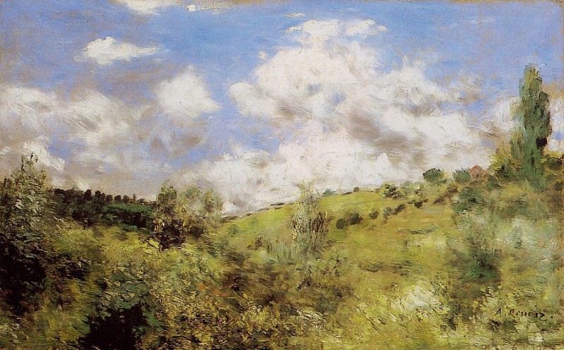 Strong Wind (also known as Gust of Wind) - 1872. Pierre-Auguste Renoir