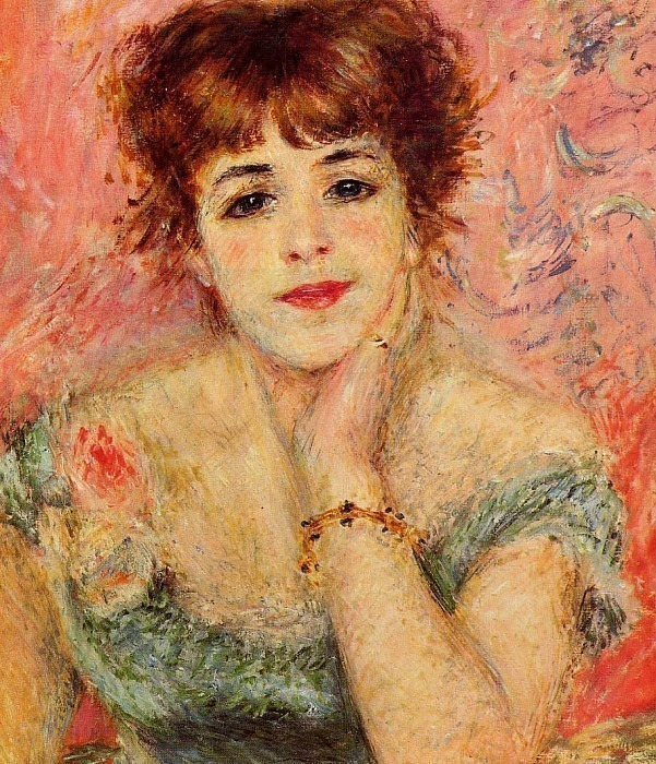 Jeanne Samary (also known as La Reverie) - 1877. Pierre-Auguste Renoir