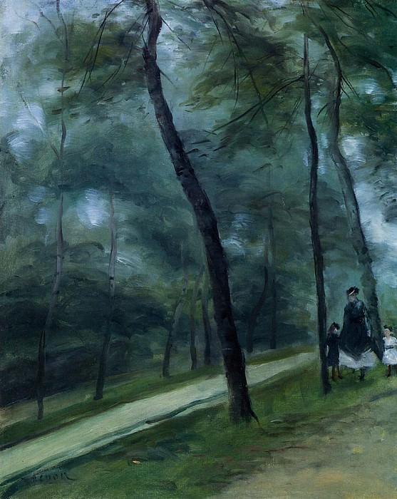 A Walk in the Woods (also known as Madame Lecoeur and Her Children) - 1875. Pierre-Auguste Renoir