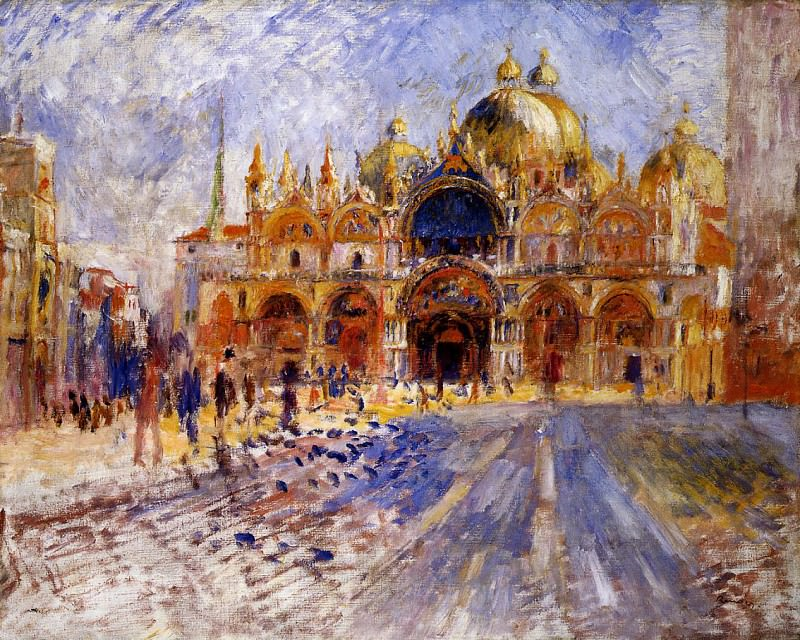 The Piazza San Marco, Venice - 1881. Пьер Огюст Ренуар