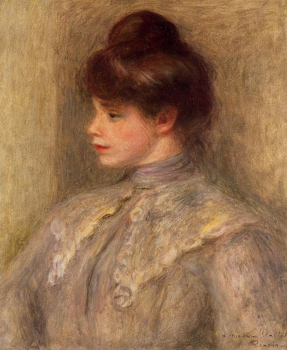 Madame Louis Valtat nee Suzanne Noel - 1903 -1904. Pierre-Auguste Renoir