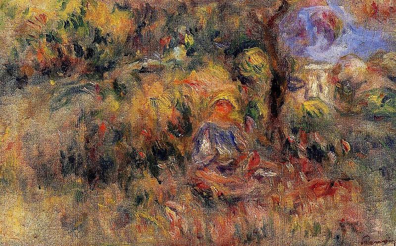 Landscape (sketch) - 1917. Pierre-Auguste Renoir