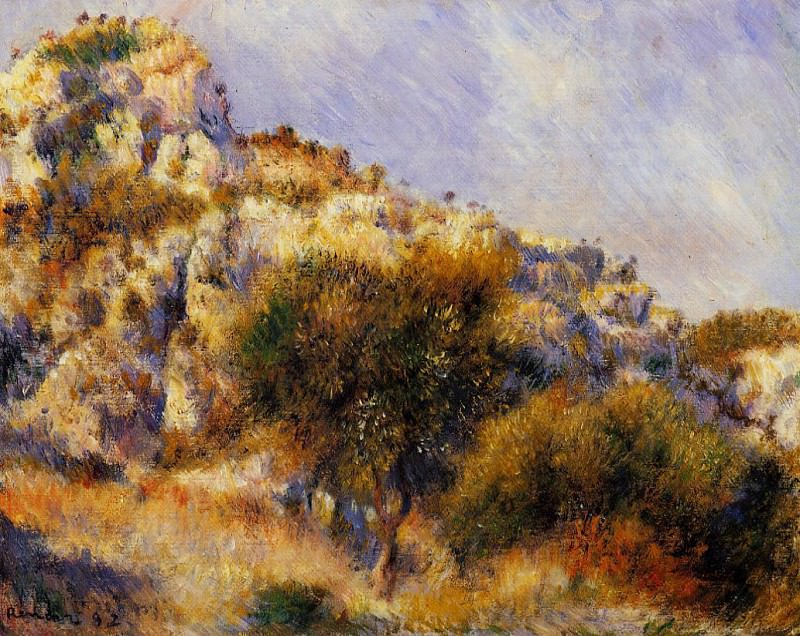 Rocks at lEstaque. Pierre-Auguste Renoir