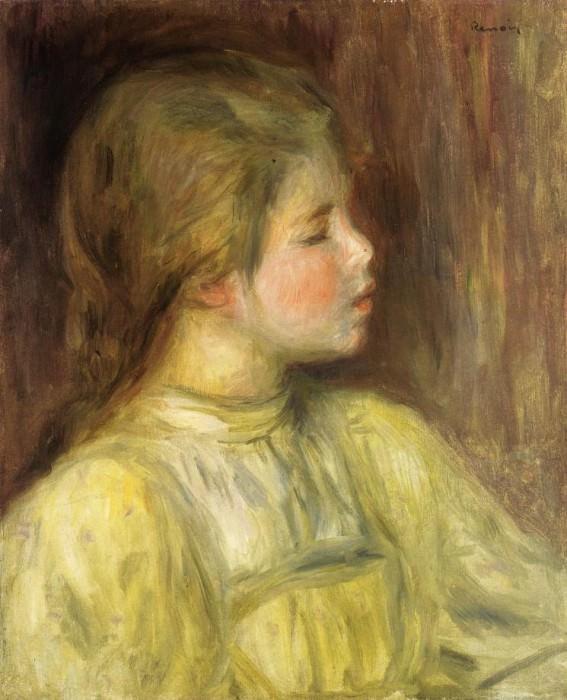 Womans Head, The Thinker - 1897. Pierre-Auguste Renoir