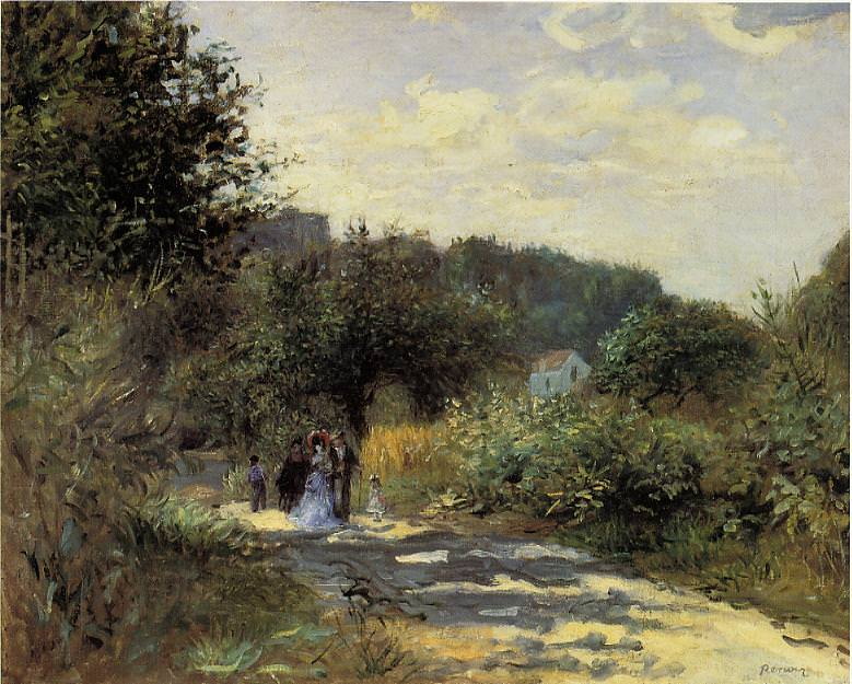 A Road in Louveciennes - 1870. Пьер Огюст Ренуар