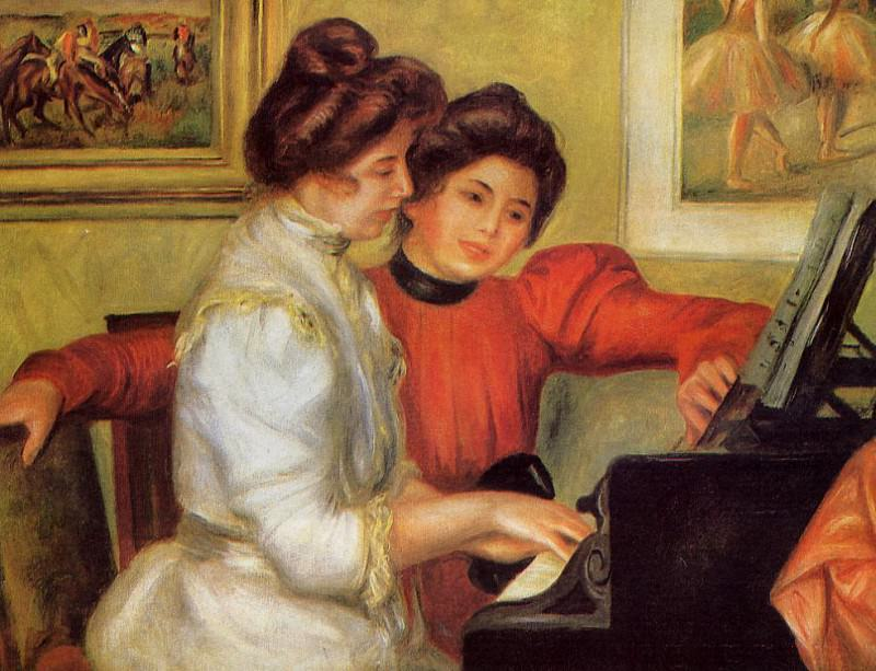 Yvonne and Christine Lerolle at the Piano - 1897. Pierre-Auguste Renoir