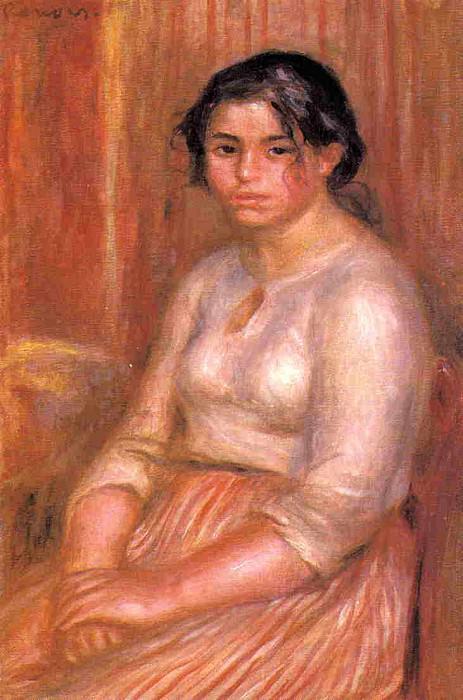 Gabrielle Seated - ок 1895. Pierre-Auguste Renoir