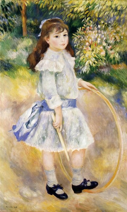 Girl with a Hoop - 1885. Pierre-Auguste Renoir