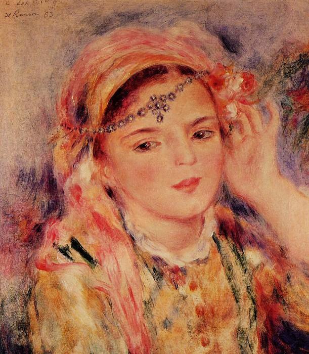Algerian Woman 1883. Pierre-Auguste Renoir