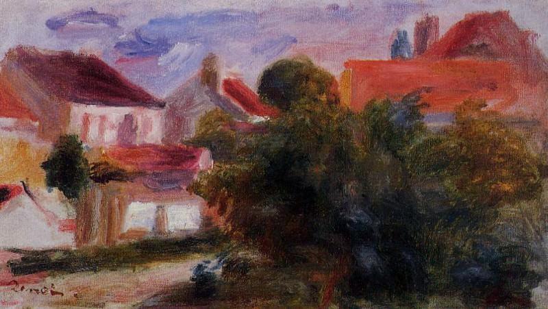 Street in Essoyes. Pierre-Auguste Renoir