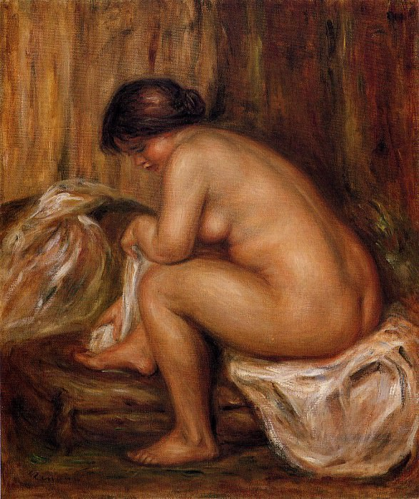 After Bathing После купания 1900. Pierre-Auguste Renoir