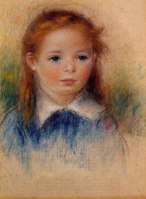 Портрет маленькой девочки. Пьер Огюст Ренуар